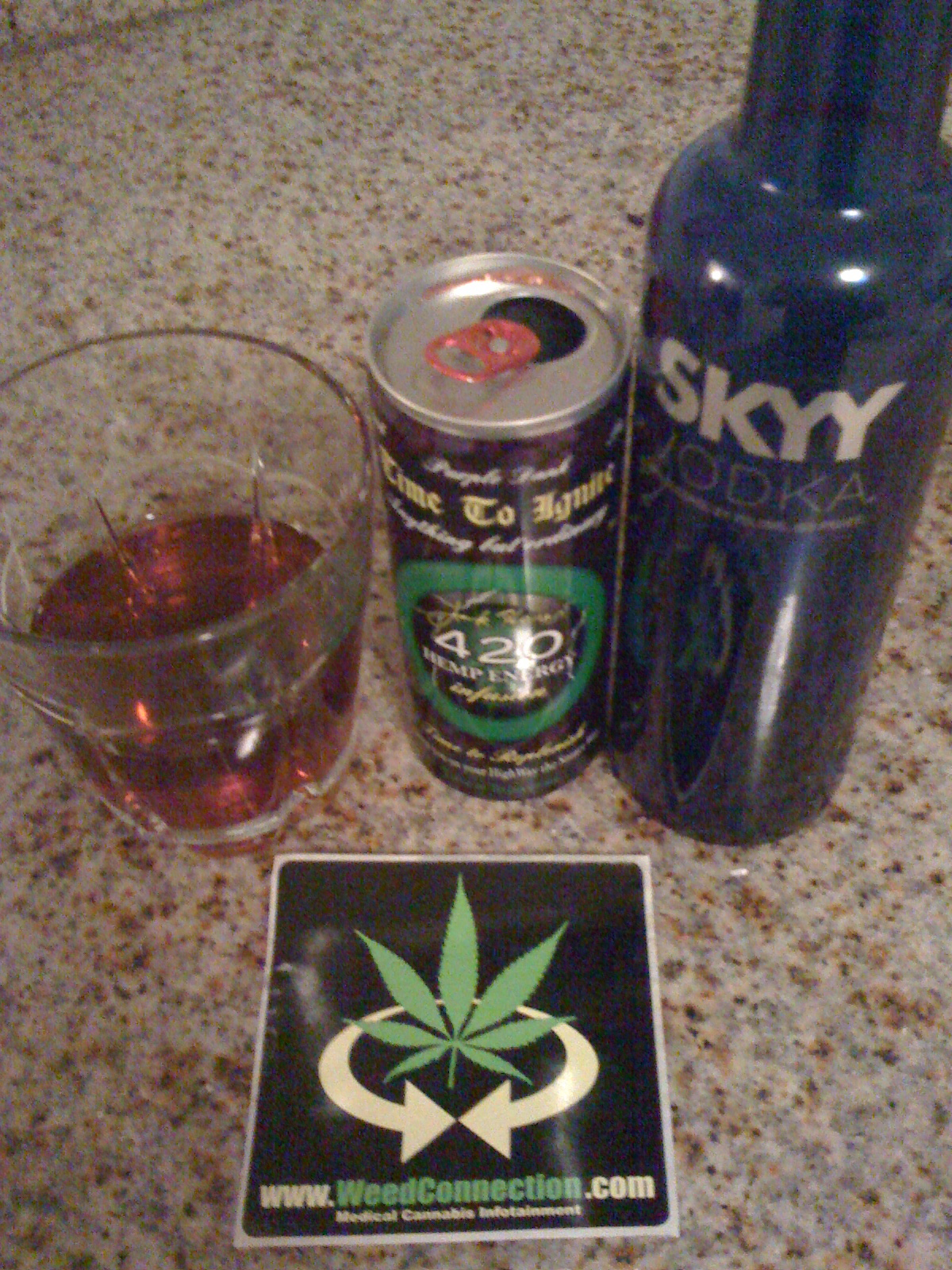 420 #Hemp #Energy #Drink #Skyy #Vodka @WeedConnection