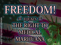 Freedom!  Equals the Right to Medical Marijuana